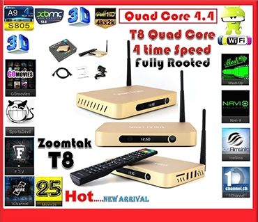 Android Box T8 Quad core 2.0 Ghz Ram 2Gb